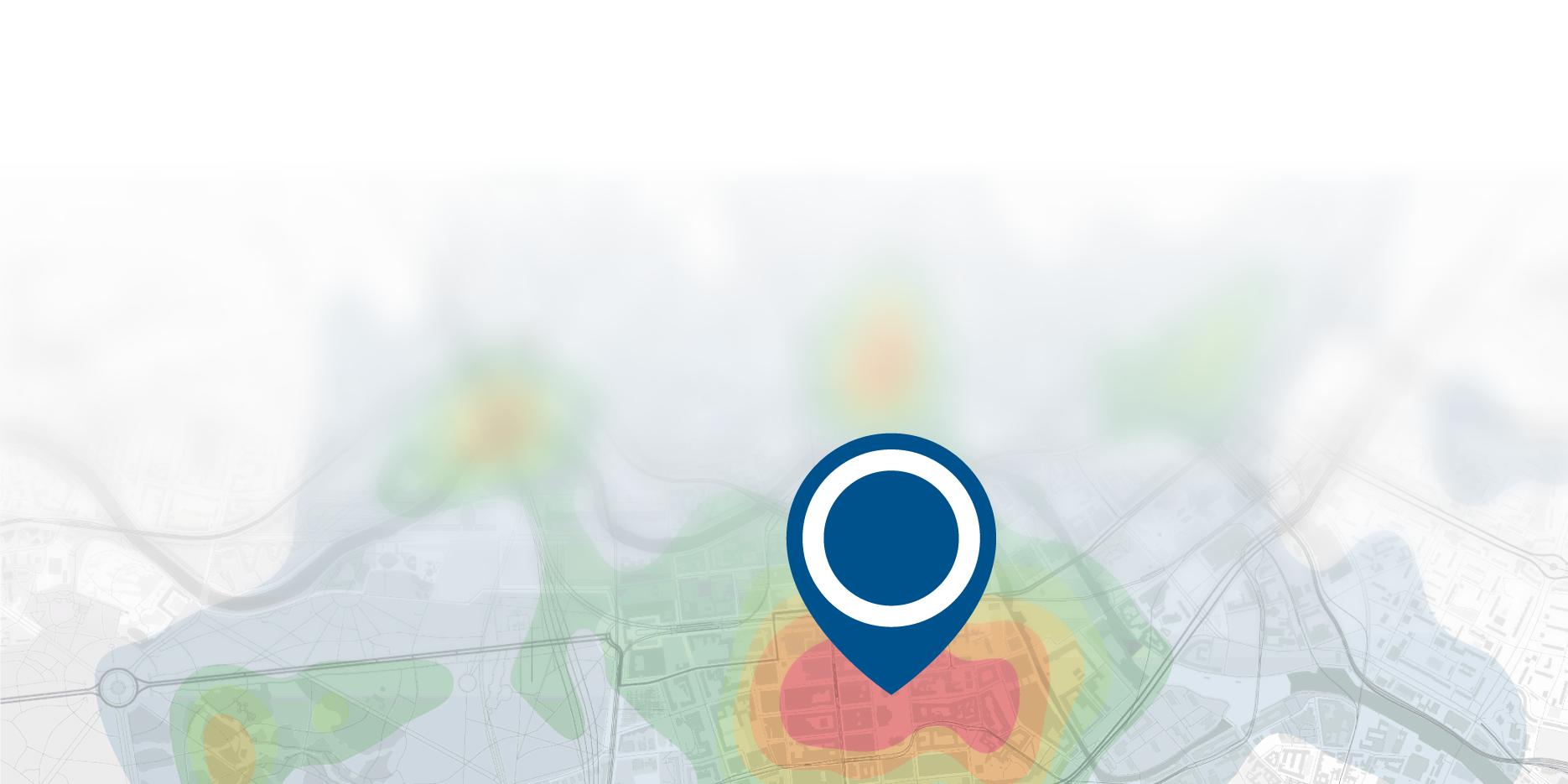 Die Experten von Geospin identifizieren ideale Standorte für Ladesäulen mittels einer Heatmap © Geospin
