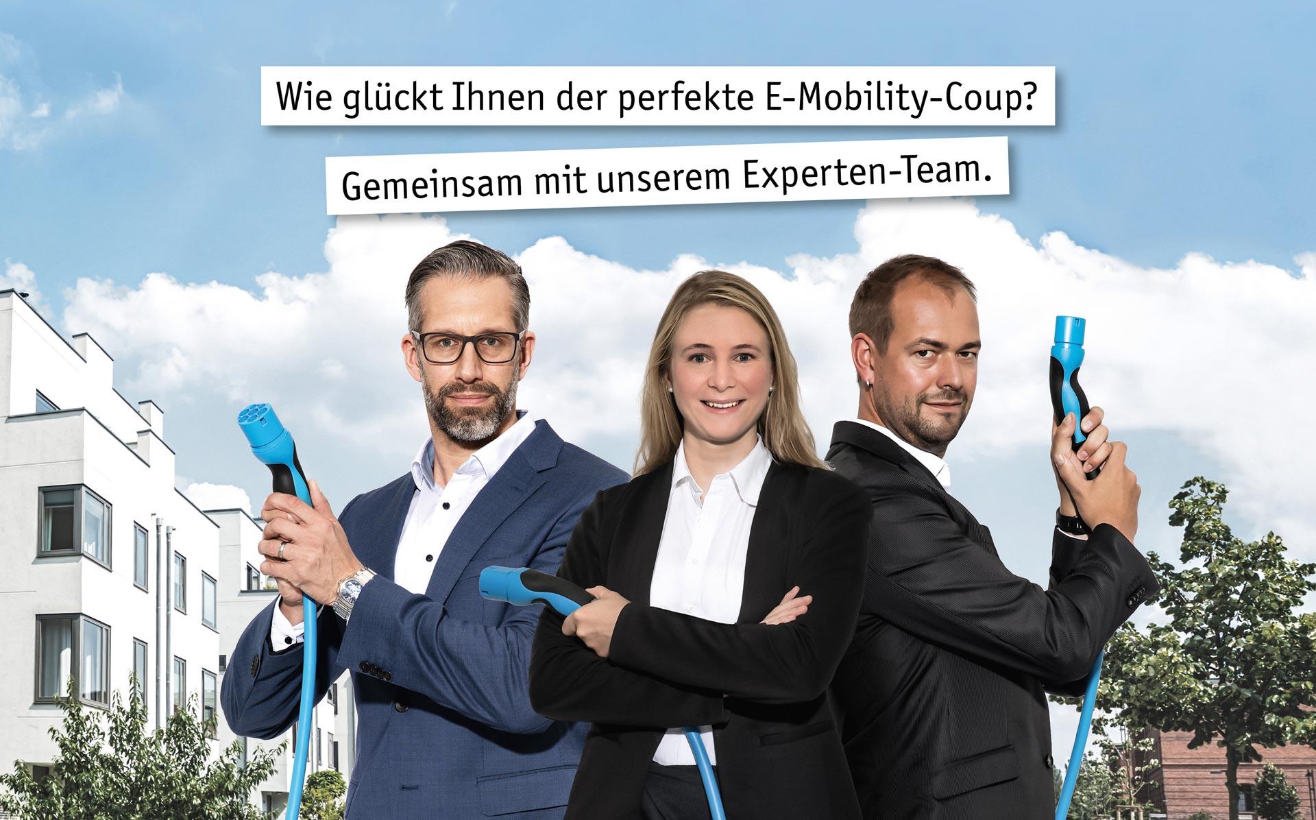 Wie glückt Ihnen der perfekte E-Mobility-Coup? Gemeinsam mit unserem Experten-Team.