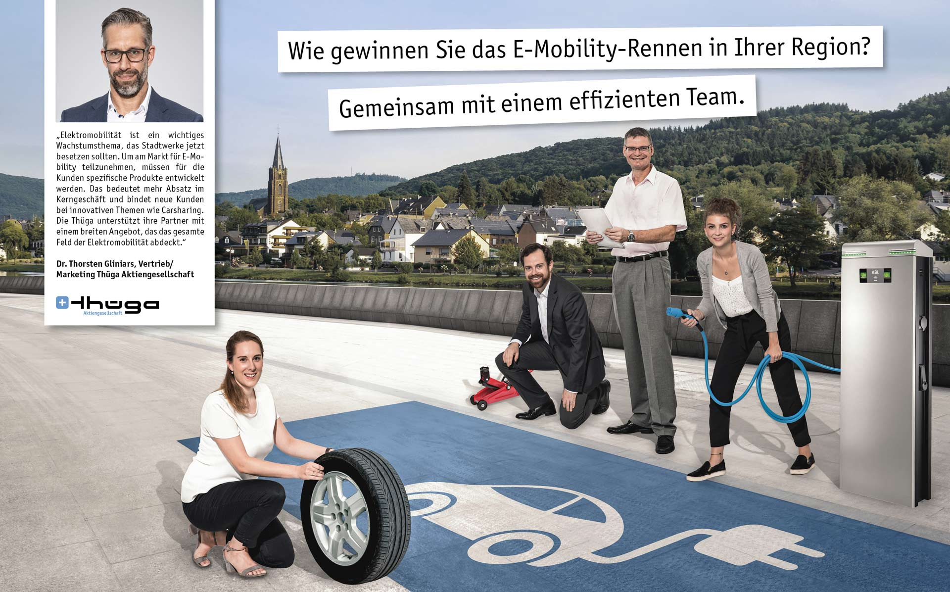 Wie gewinnen Sie das E-Mobility-Rennen in Ihrer Region? Gemeinsam mit einem effizienten Team.
