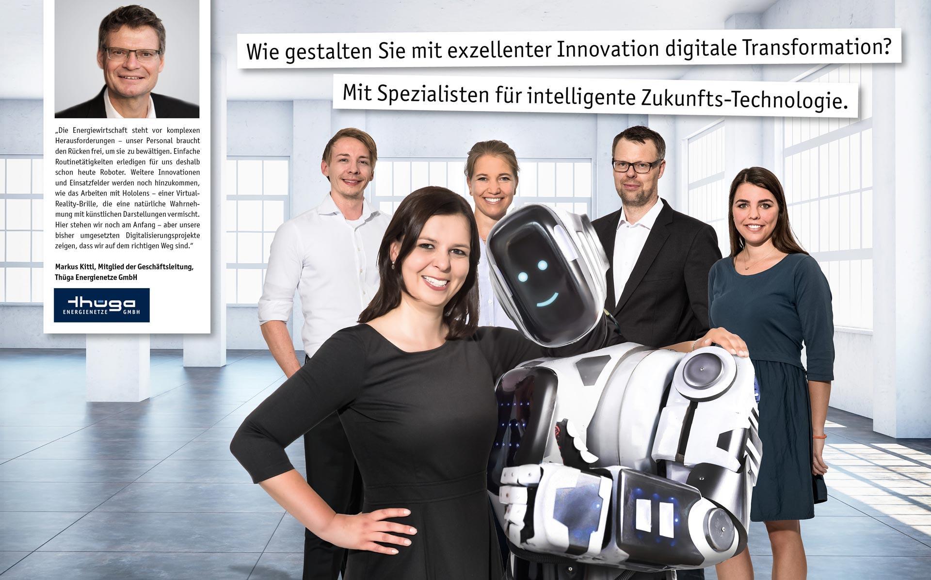 Wie gestalten Sie mit exzellenter Innovation digitale Transformation? Mit Spezialisten für intelligente Zukunfts-Technologie.